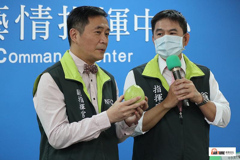 「中央流行藝情指揮中心」演員(左起)湯志偉、洪都拉斯。