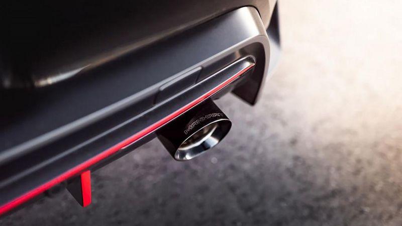排氣系統換上具有閥門控制的不鏽鋼排氣管。