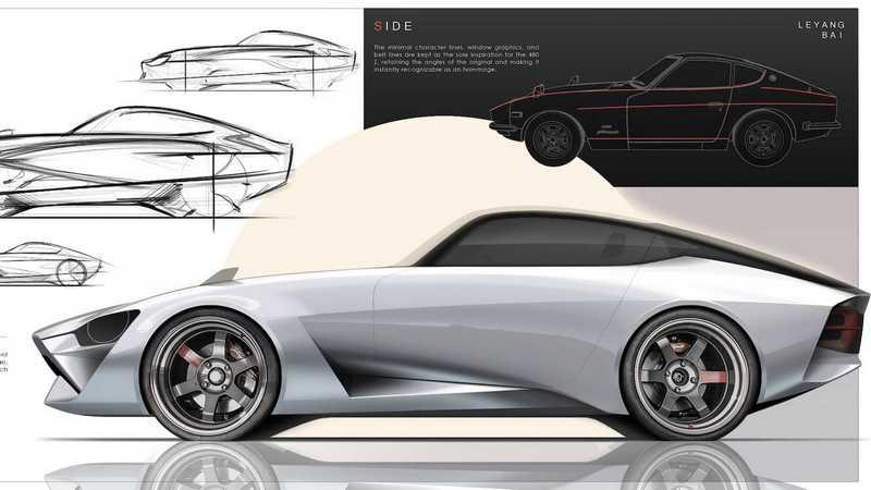 該名設計師以240Z為靈感設計400Z。(圖片源自Le yang Bai)