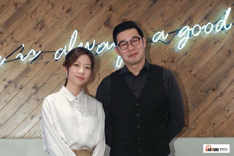 陳妤(左起)與馬力歐在《國際橋牌社》中分別飾演政治線記者與報社主任。