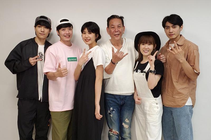 《若是一個人》第三集映後直播,林子閎(左起)、林紹謙、陳璇、龍劭華、孫可芳、宋柏緯 。