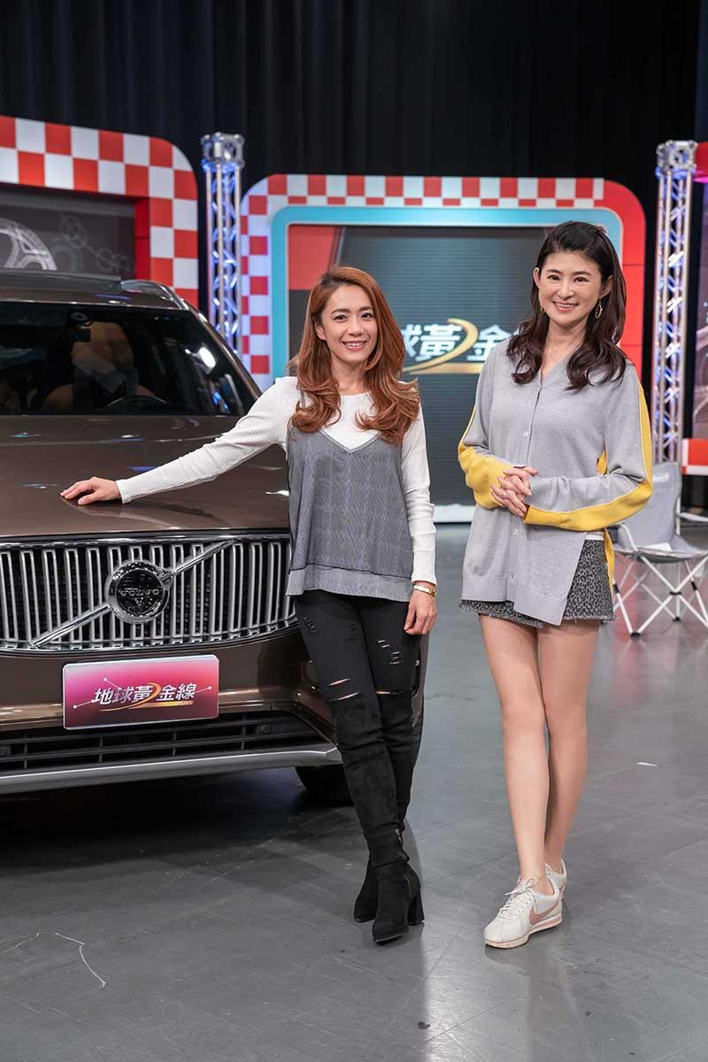 柯以柔(左)在TVBS《地球黃金線》節目中分享自己買車經驗。