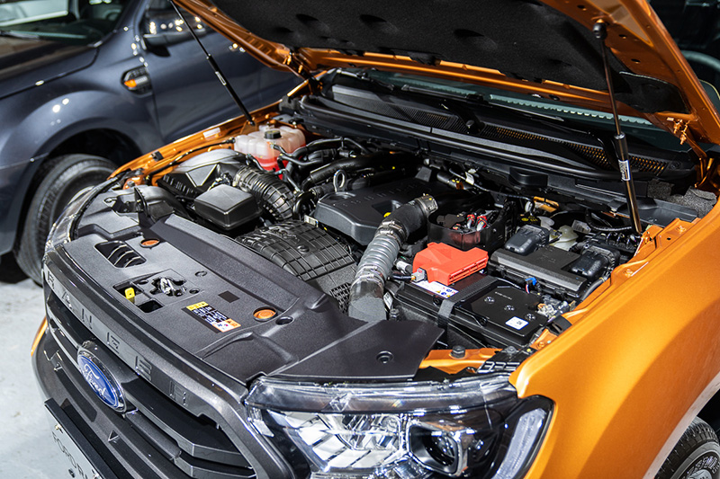 2.0L直列四缸柴油雙渦輪引擎,可輸出213ps/51.0kg-m 強悍動力。