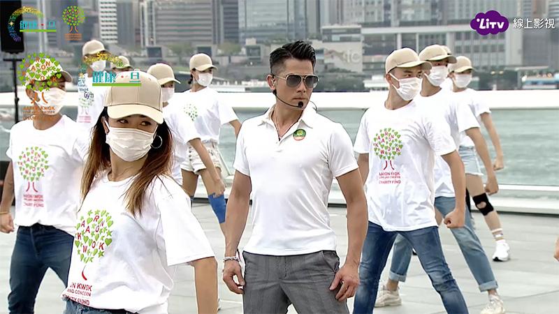 郭富城香港海港城「鼓舞‧動起來網上慈善演唱會」共獻唱13首歌。