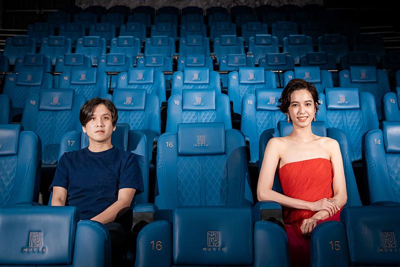 2020台北電影節影展大使陳庭妮(右)與形象廣告導演洪子烜(左) 邀請大家一起看影展。