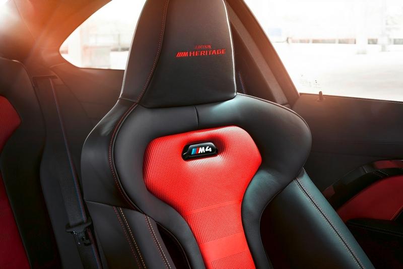 BMW M專屬雙前座跑車座椅繡上Edition ///M Heritage字樣。