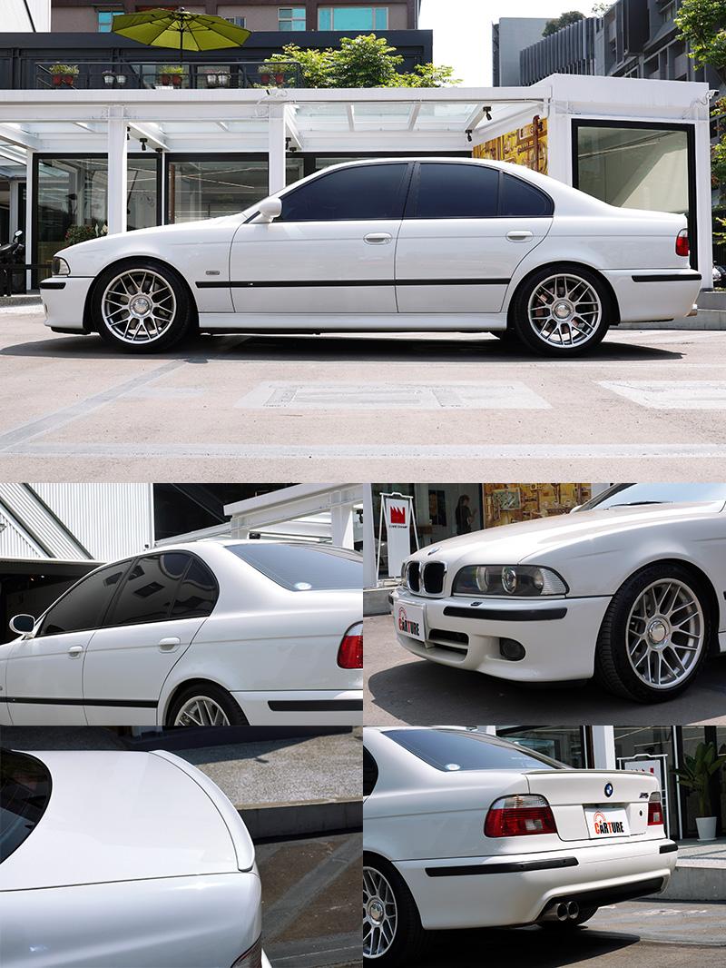 陳熙之為珍藏的BMW 523 lndividual換上了許多正M5的套件,連原廠黑色窗框都很考究。