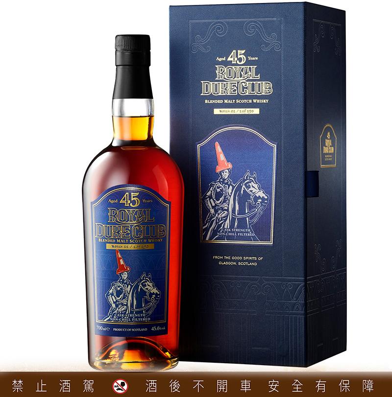 Royal Duke Club紅帽爵士45年蘇格蘭調和麥芽威士忌