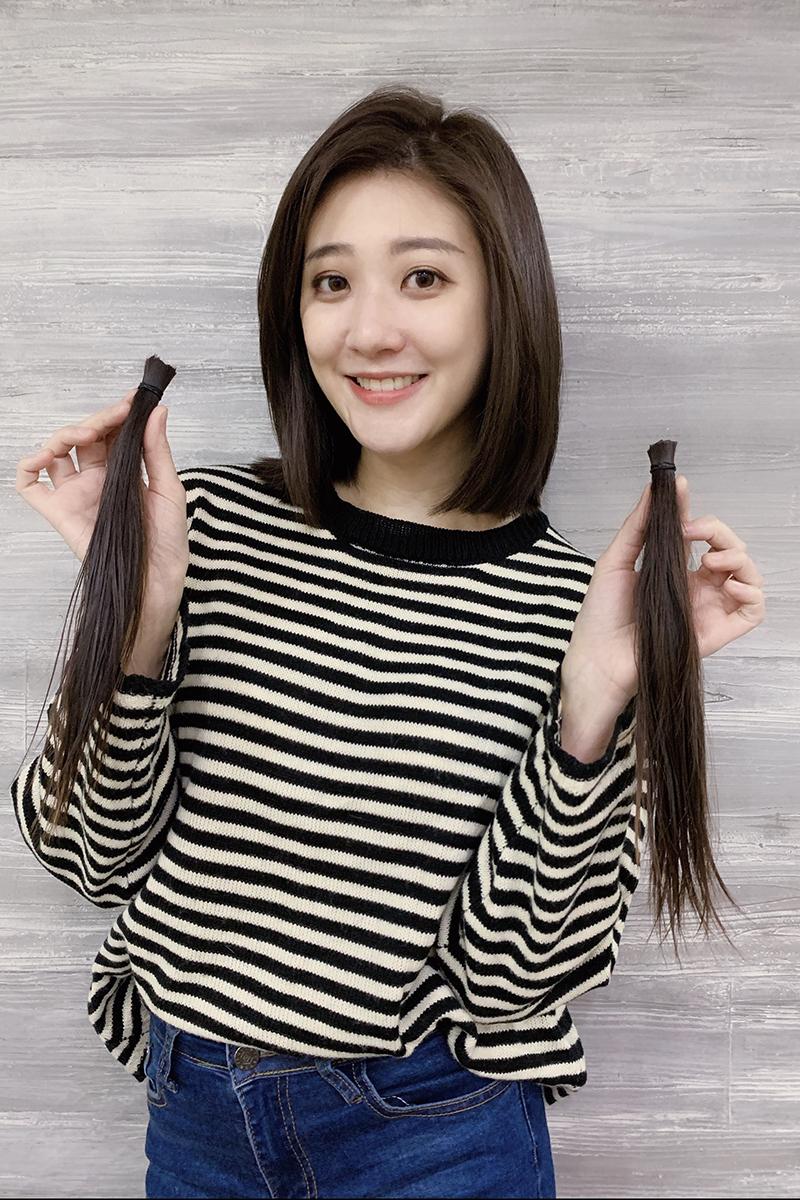 林逸欣剪掉5年來留的一頭長長髮。