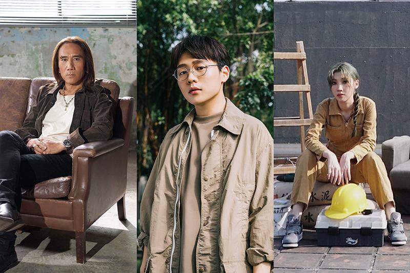 《做工的人》原創音樂動力火車顏志琳(左起)、王耀楊、Karencici刻劃角色心情寫照