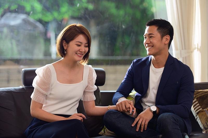 《女力報到最佳拍檔》楊雅筑(左)劇中月事推遲疑有孕,梁瀚名(右)發現後很開心。
