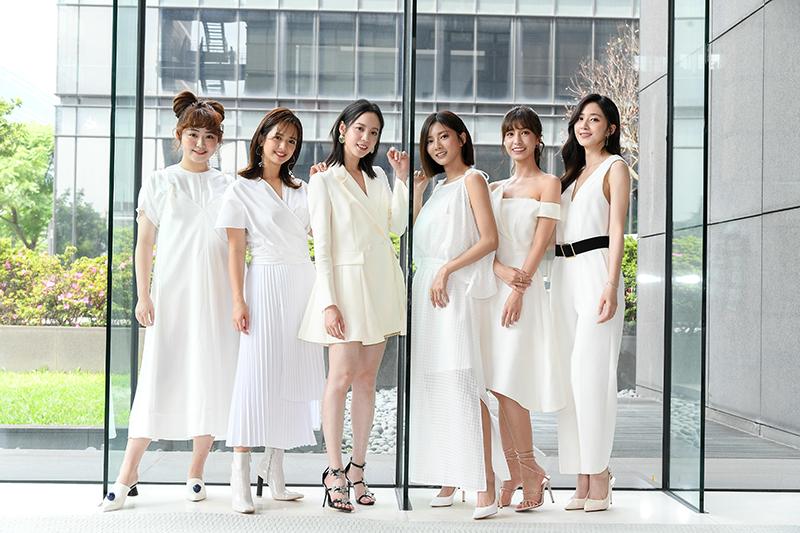 《我的青春沒在怕》主要演員(左起)喬雅琳、臧芮軒、程予希、蔡黃汝、陳敬宣、謝翔雅。