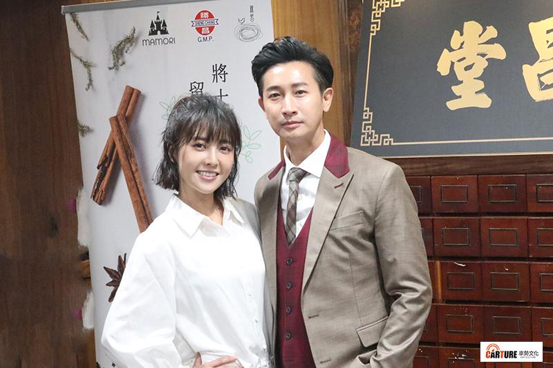 《羅雀高飛》主要演員(左起)林艾璇(大元)、Darren邱凱偉。