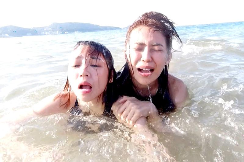 《天之驕女》演員林萱瑜、曾智希拍攝至今最印象深刻的就是海中游泳。