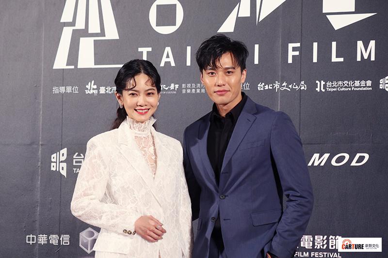 曾之喬(左起)、張睿家出席2020台北電影節。