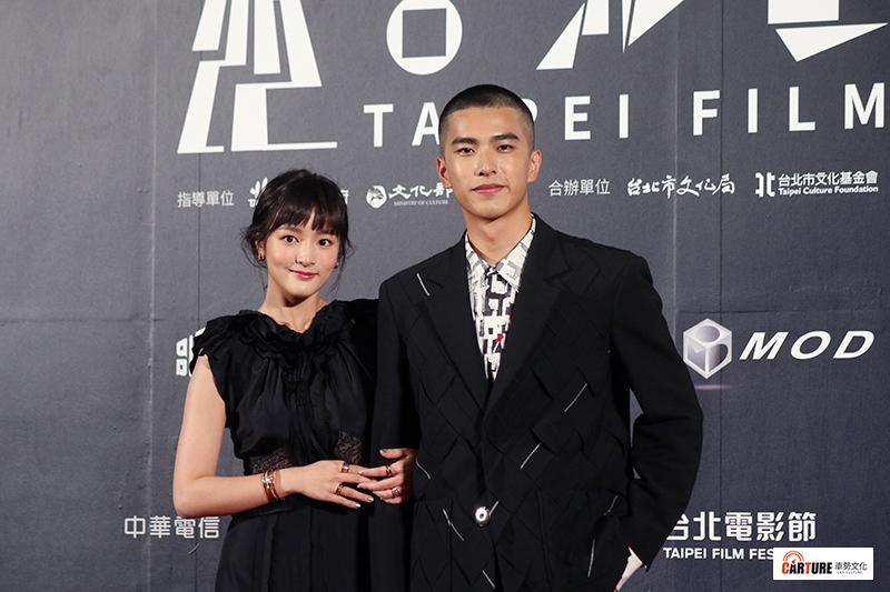 王淨(左起)、曾敬驊出席2020台北電影節。
