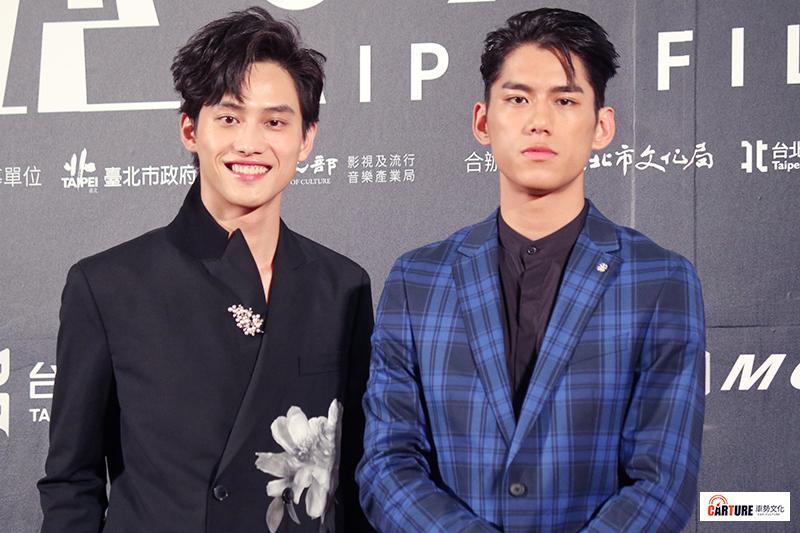 范少勳(左起)、朱軒洋出席2020台北電影節。
