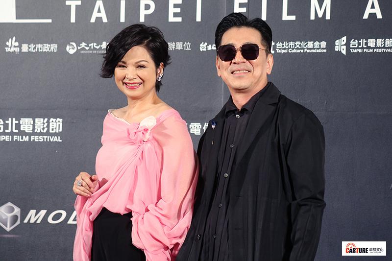 楊貴媚(左起)、高捷出席2020台北電影節。