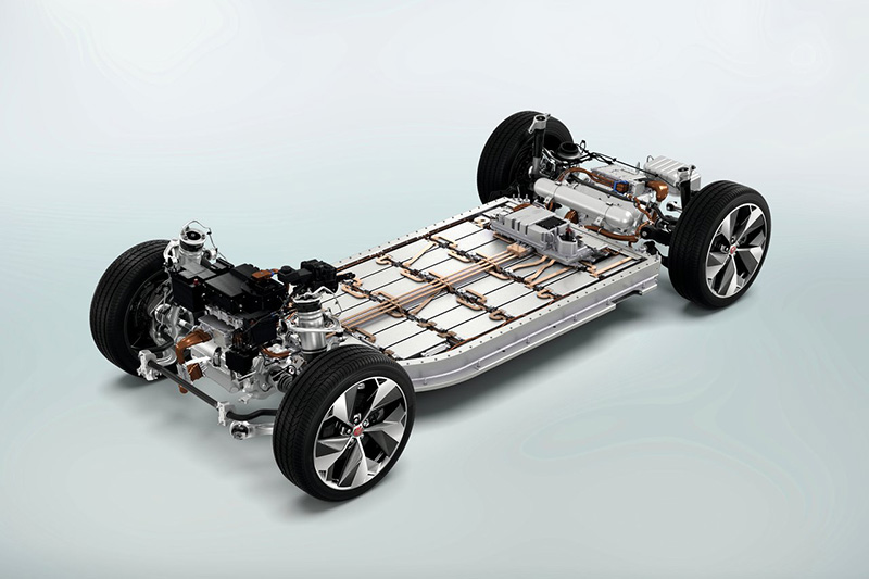 XJ預計會搭載I-Pace相同規格的電池模組。