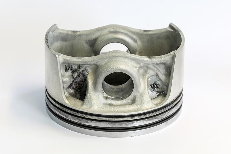 以3D列印技術所產製的活塞零件,可針對其在引擎作動時所產生的負載進行強化。