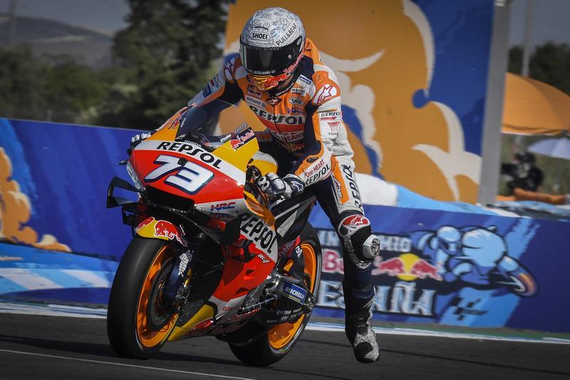 Alex Marquez還在適應MotoGP車輛性能,因此本站僅有跑出12名成績。