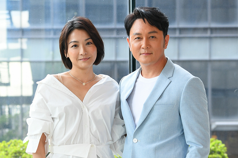 《天之驕女》江祖平(左起)與趙擎扮夫妻。