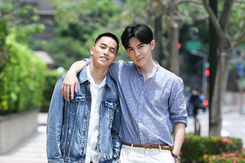 《我的青春沒在怕》唐禹哲(右起)、徐謀俊首次合作。