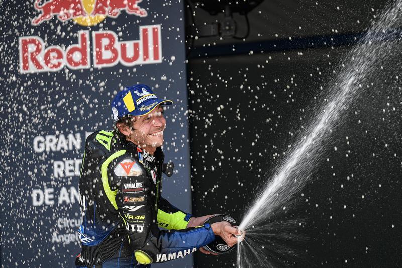 Rossi後來被Vinales超越,但還是能以第三作收重返般獎台。
