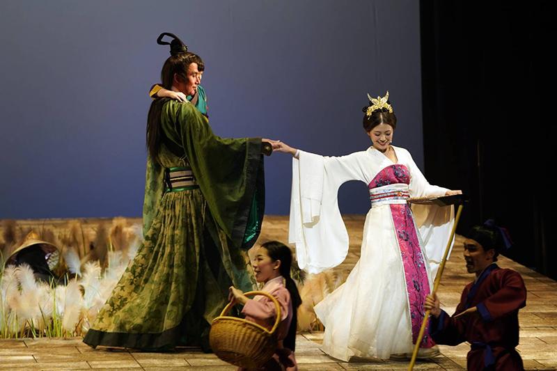 音樂劇《賽貂蟬》演員(左起)黃志瑋、卓文萱。/全民大劇團提供