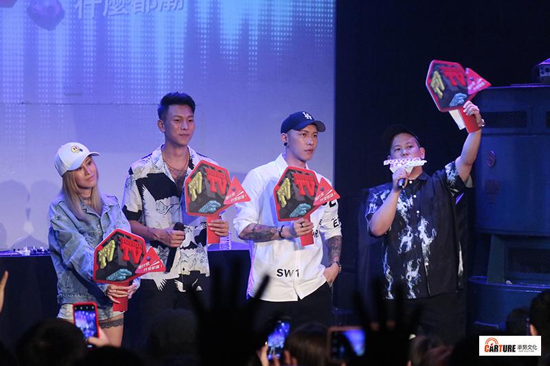 《Toyoyta TV嘻哈一夏演唱會》(左起)陳嘉唯Renée、瘦子E.SO、小春Kenzy、主持人恩熙俊嗨翻全場(圖集)