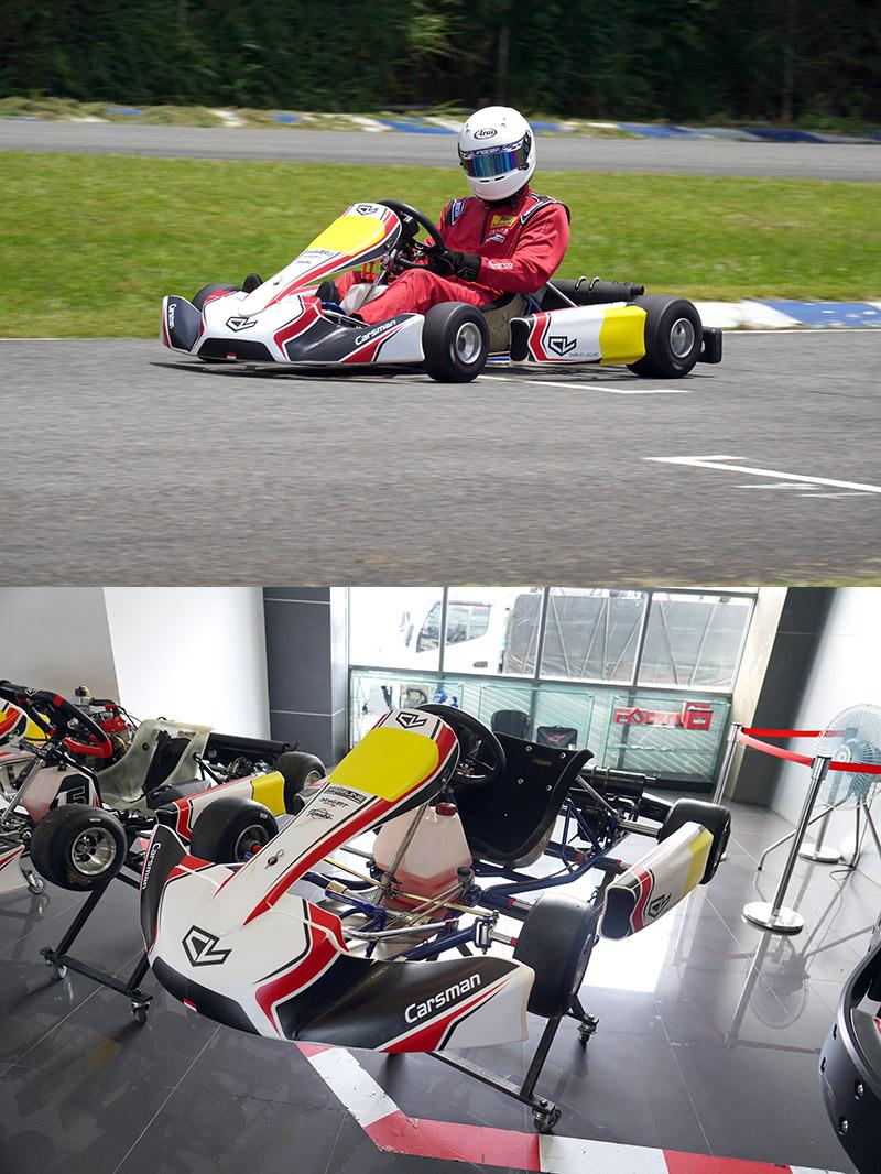 上Charles Leclerc外觀套件的Yamaha SL〈泛稱KT-100,使用Yamaha KT-100 SEC引擎〉賽車