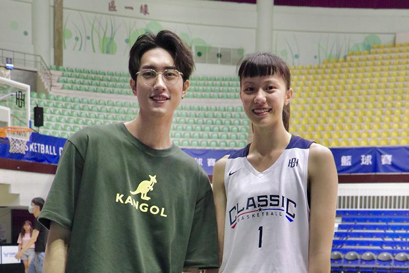 凱渥范姜彥豐(左起)與凱渥斜槓模特劉昕妤。