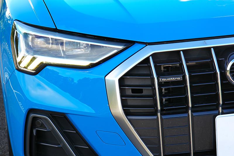 與Q3 Sportback外觀差異就是Q3水箱護罩採用直柵式設計。