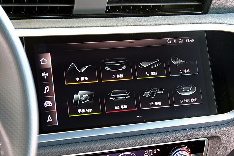 12.3吋數位儀表、10.1吋觸控螢幕、原廠導航、Audi Connect需加價105,000元選配。