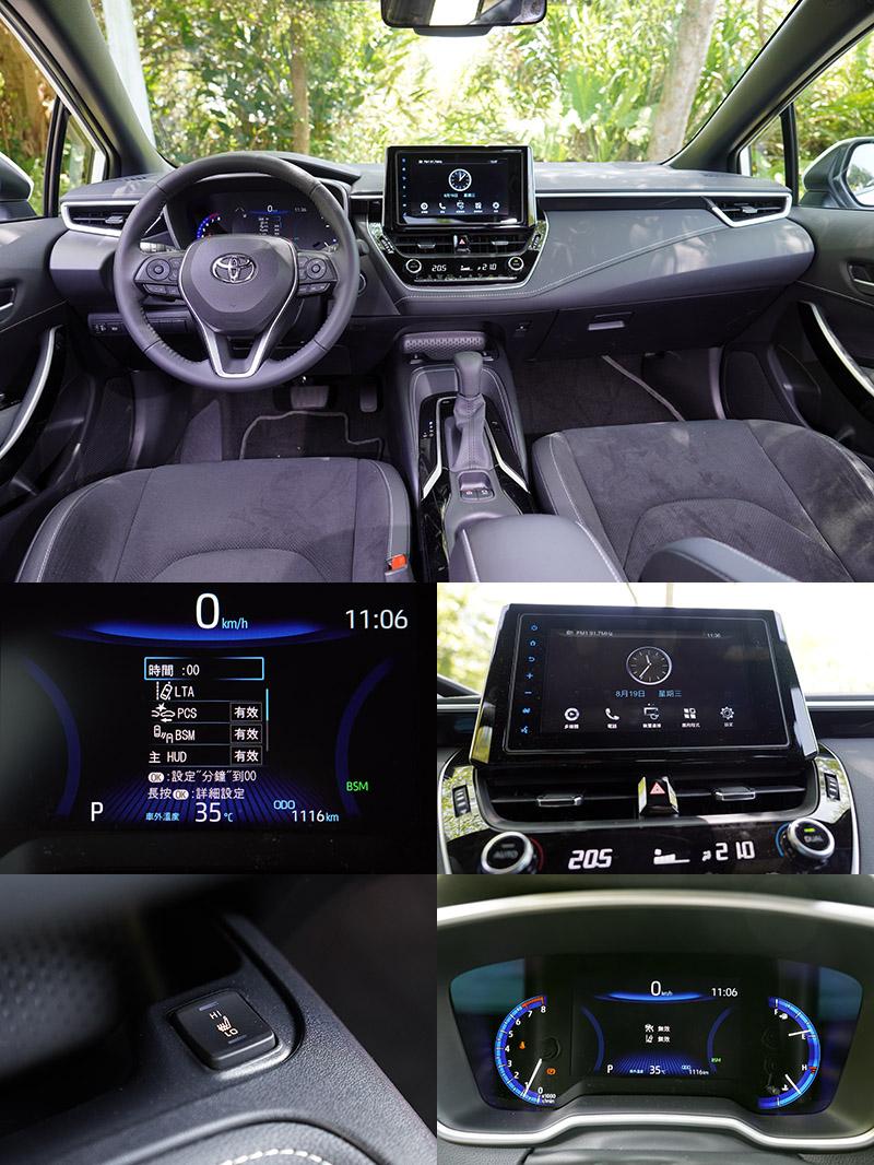 原名Auris的Corolla Sport,在改名後,配備面強化不多,以致在配備比較中較顯弱勢,但其車價也是最低的。