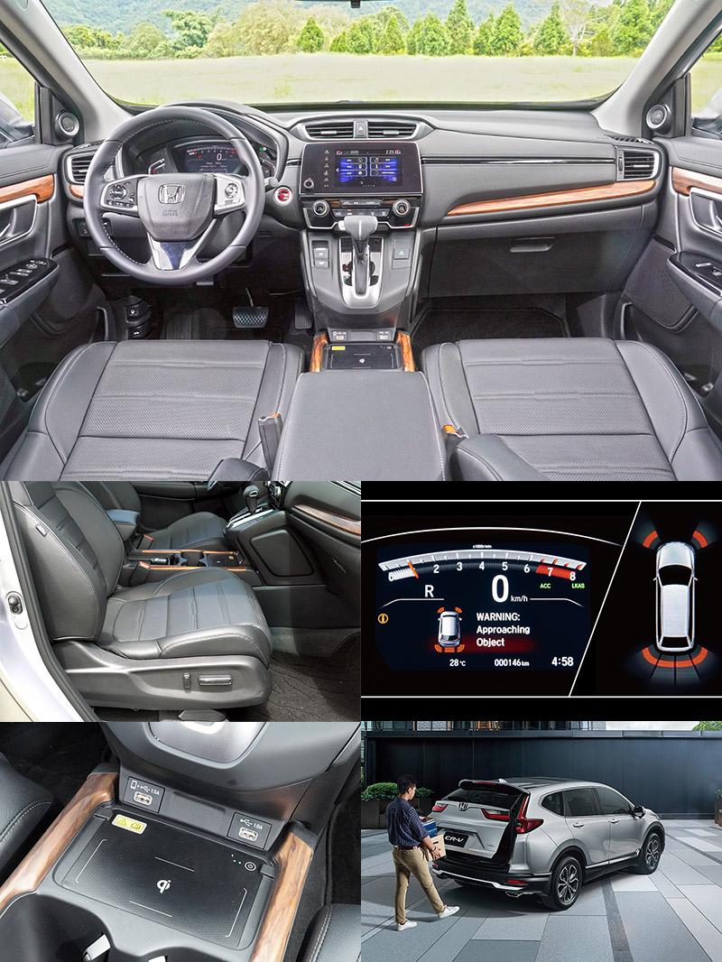 新年式改款CR-V導入更多消費者喜歡且實用的裝備,包含無線充電座 (S/VTi-S)、副駕駛座四向電動座椅調整 (S)、感應式電動尾門 (S)、PSS駐車雷達系統 (S) 。