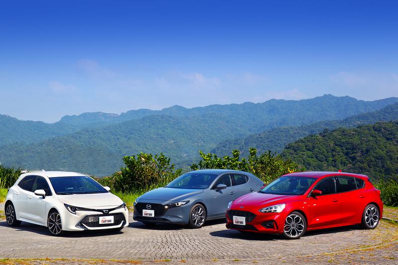 喜歡銳利神情的選Corolla Sport,喜歡低調中帶細膩質感的選擇Mazda 3,喜好樸實與動感兼具的則相中Focus