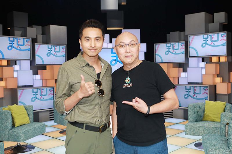 《我的婆婆怎麼那麼可愛》導演鄧安寧(右起)與演員王少偉上公視《36題愛上你》節目。