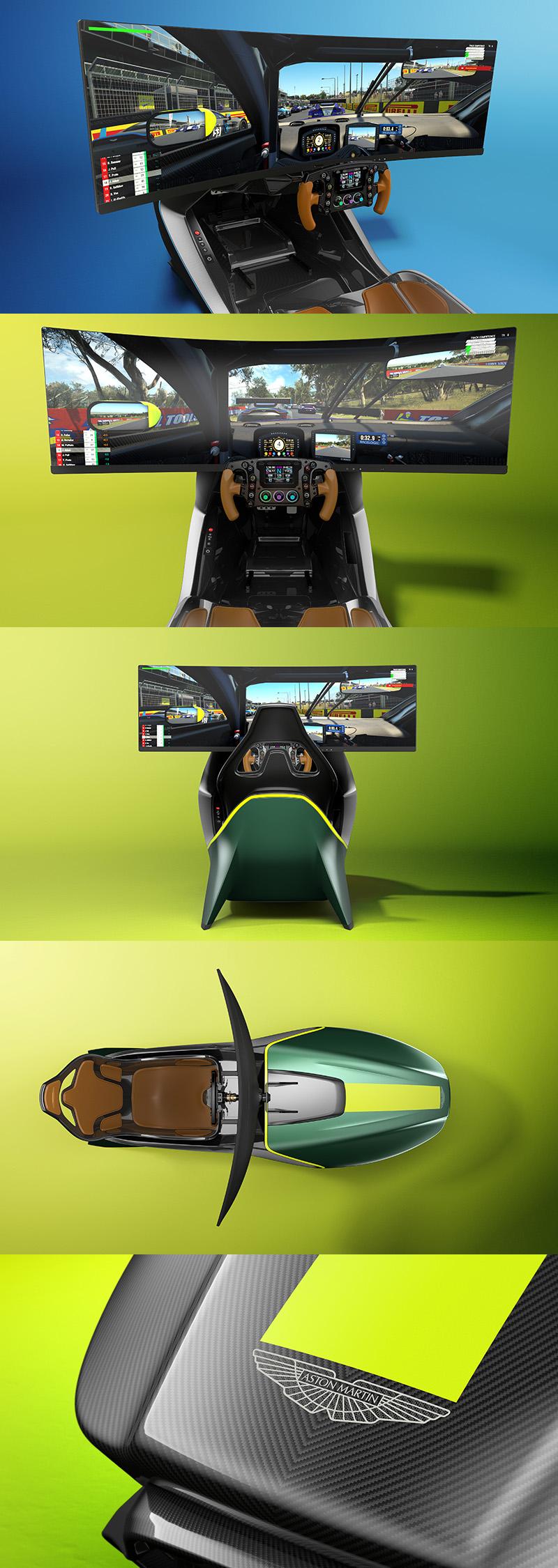 AMR-C01 Racing Simulator同樣充滿著Aston Martin的設計元素。