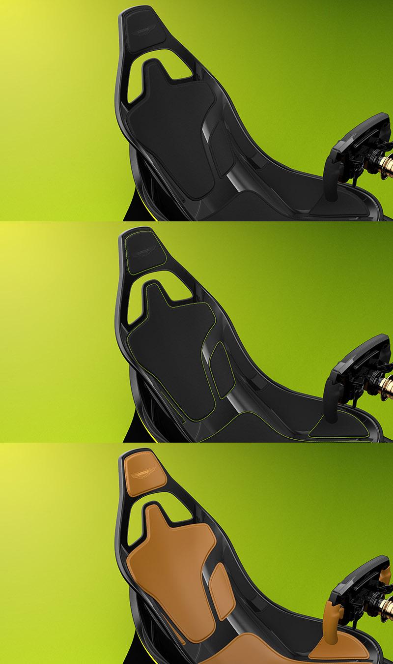 座椅配置位置完全與Aston Martin Valkyrie相同。