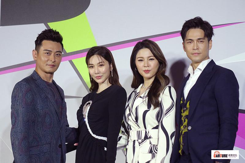 《第55屆電視金鐘獎》由陳冠霖(左起)、曾莞婷、白家綺、Gino擔任第一階段主持人。