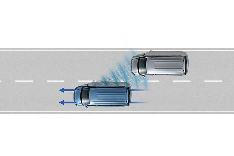 Side Assist 車側盲點警示系統,可以閃爍警示燈號提醒駕駛人留意行車路況