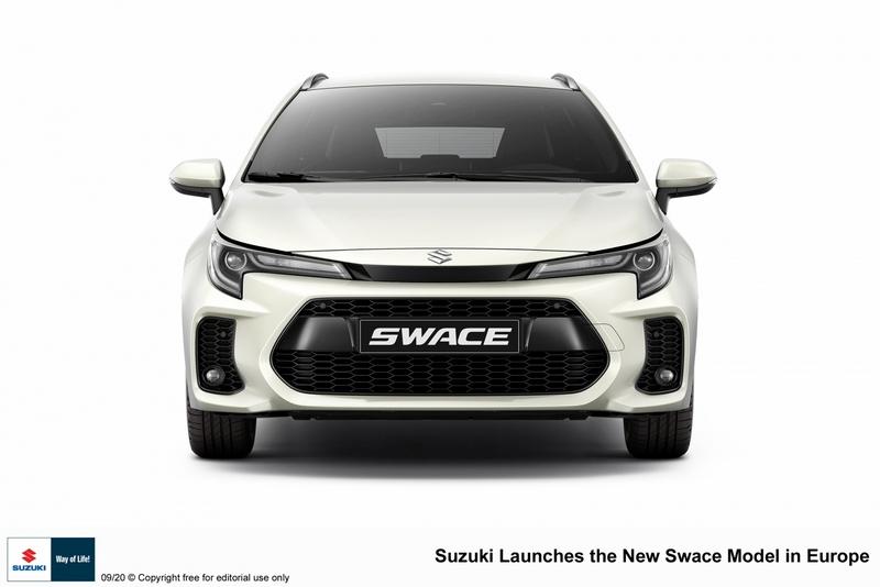 Suzuki Swace是基於Corolla Touring Sport所推出的車型,因此整體外觀相同僅於保險感與水箱護罩進行微調。