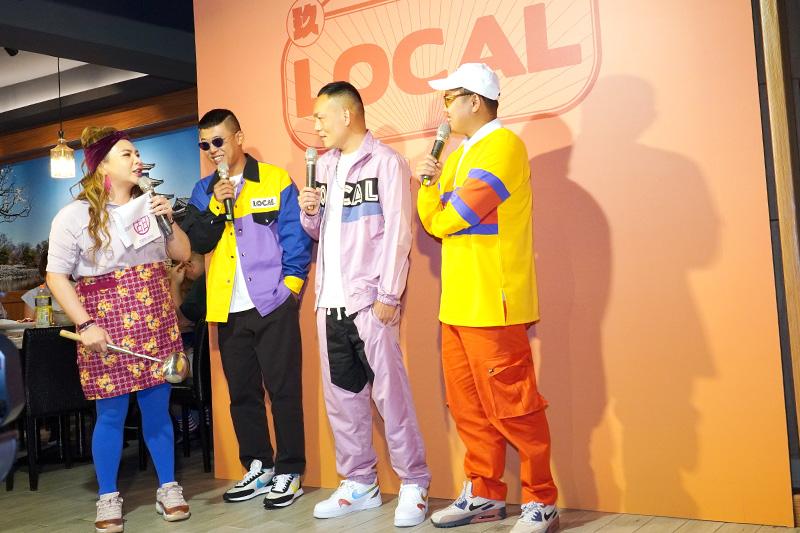 玖壹壹三人也現場教學「LOCAL舞」,帶領小甜甜4人齊跳舞步氣氛歡樂