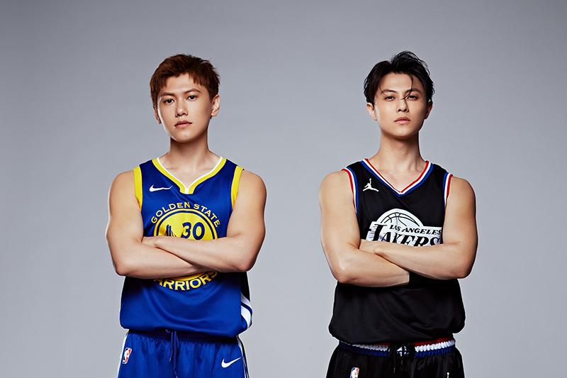王子邱勝翊(右起)、邱宇辰兄弟各自領軍PK公益籃球賽
