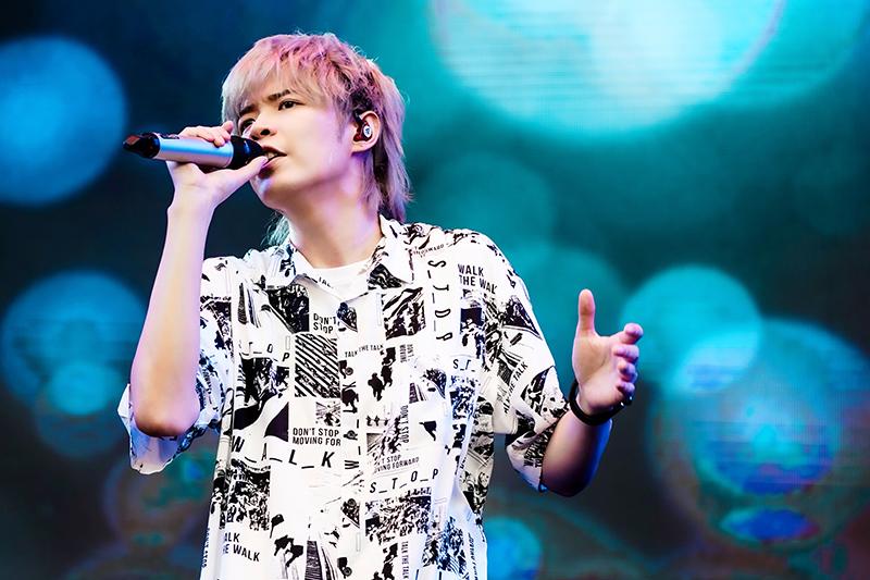 《綠生活音樂節》八三夭阿璞表示很久沒在台北大草皮開唱。