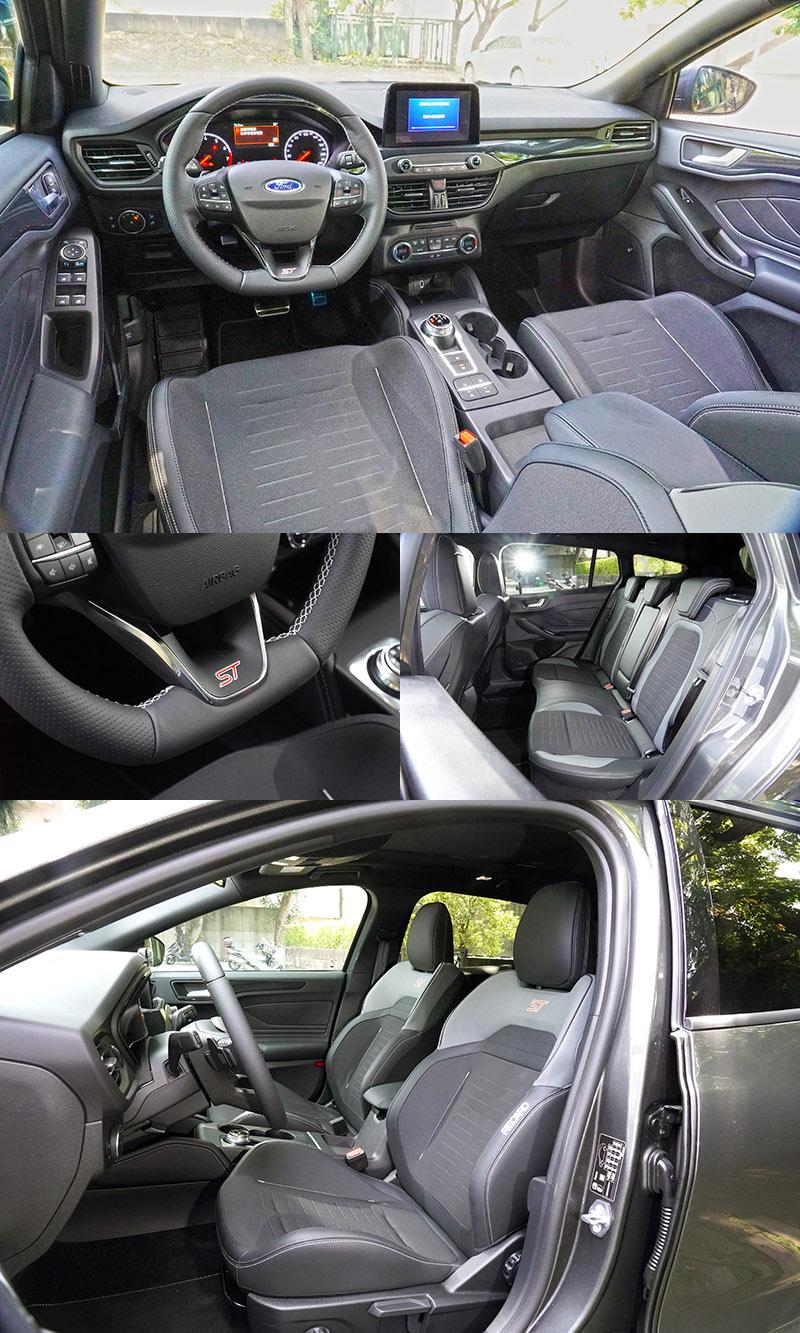 進入車內,採用運動碳纖維紋路飾板搭配闇黑頂篷,而最吸引人的當屬Recaro運動跑車座椅。