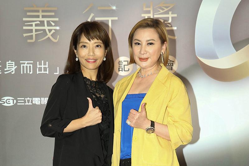 《第三屆台灣義行獎》開跑!陳亞蘭(右起)、李天怡擔任評審。/財團法人公益傳播基金會提供