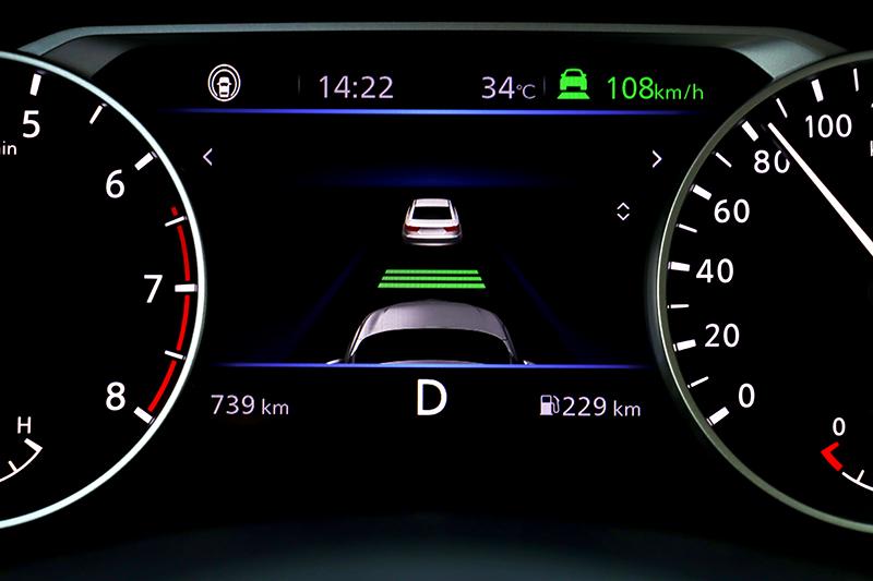 全車系標配ICC智慧型全速域定速控制,作動時速為0~144km/h,離前車距離較其它車型來得稍近。