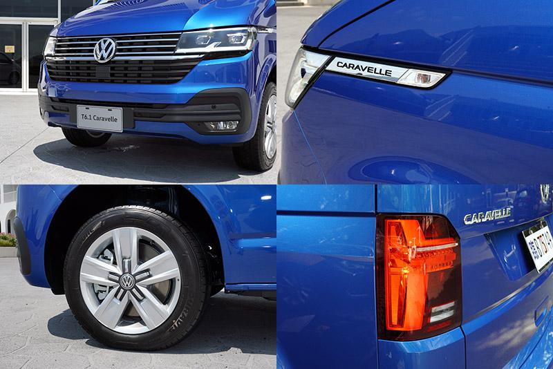 全新的車頭造型與前葉子板增加的Caravelle專屬銘牌,是T6.1 Caravelle在外觀最容易辨識的地方。